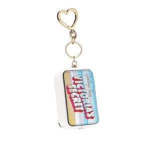 Victoria's Secret Postcard Keychain Coin Purse NWT
